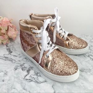 👧🏻 Girl's Capelli New York Rose Sequin High-Tops